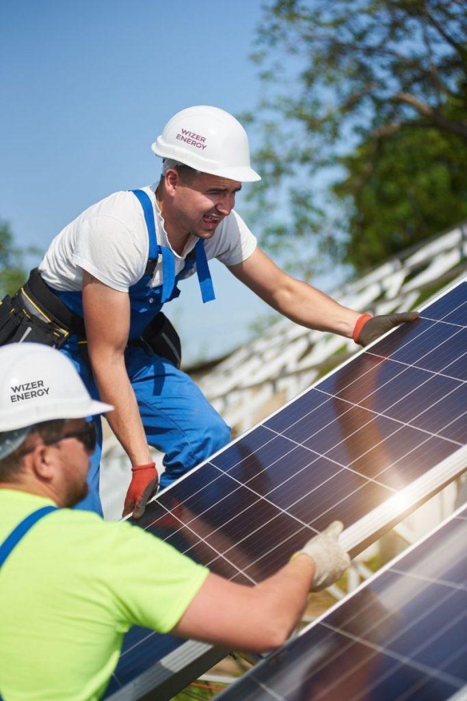 Solar Panels in Ireland Being Installed