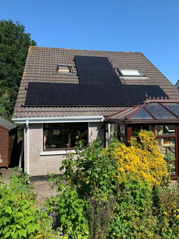 Solar Panels Ireland on a sunny home